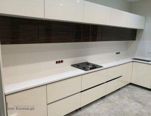 Столешница для кухни из белого искусственного камня