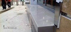 Подоконники из искусственного камня для касс метрополитена