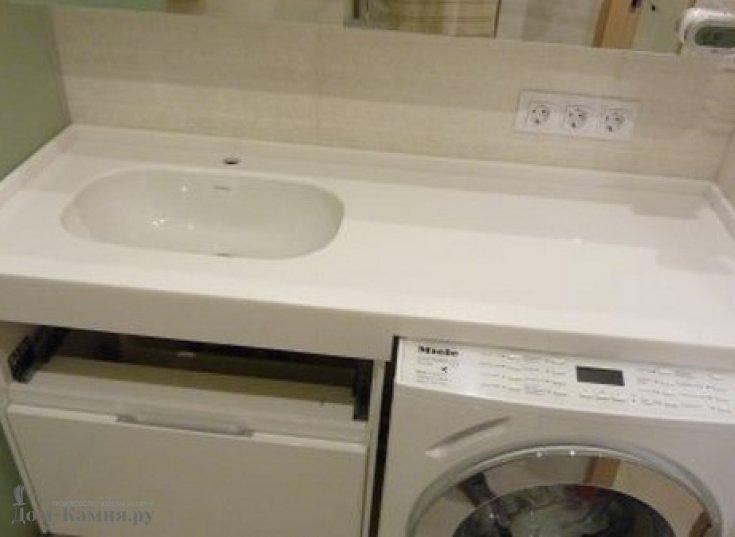 Столешница в ванную для встроенной стиральной машины