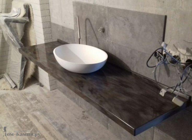 Столешница в ванную из искусственного мрамора