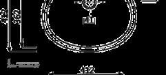 Размеры раковины из искусственного камня МОДЕЛЬ № JK 301