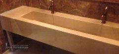 Столешница из искусственного камня для санузла в торговый центр