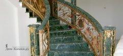 Лестница из мрамора India Green