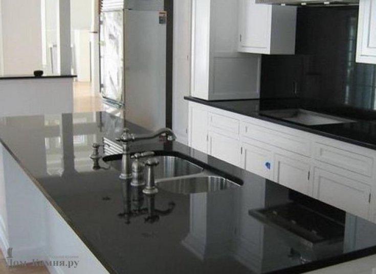 Столешница для кухни из гранита Absolute Black