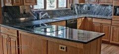 Столешница для кухни из гранита brass blue