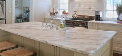 Столешница для кухни из мрамора Calacatta