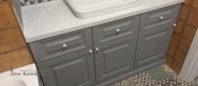 Столешница для ванной с накладной раковиной