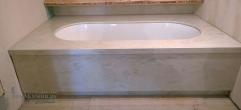 Накладка и панель из искусственного камня для ванной