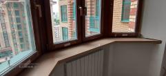 Подоконники из искусственного камня для эркерного окна